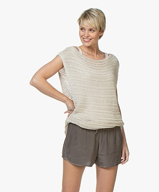 IRO Casey Open Knitted Sweater - Beige