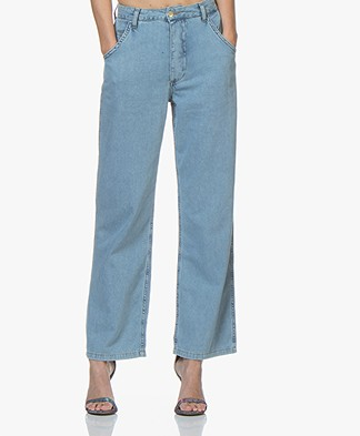 Ragdoll LA Wide High Waist Jeans - Blue Denim