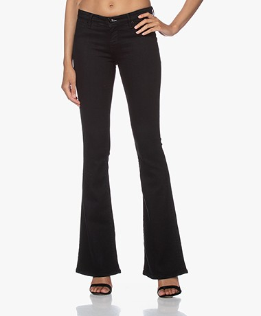 Denham Farrah Super Flare Fit Jeans - Black