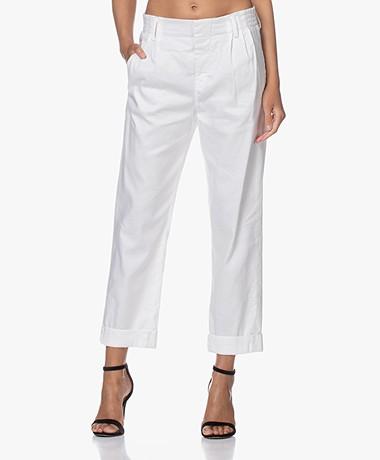Drykorn Dispatch Linen Blend Pants - White