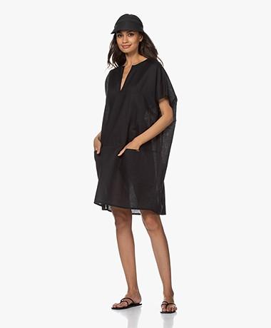 Calvin Klein Linen Blend Kaftan - Black
