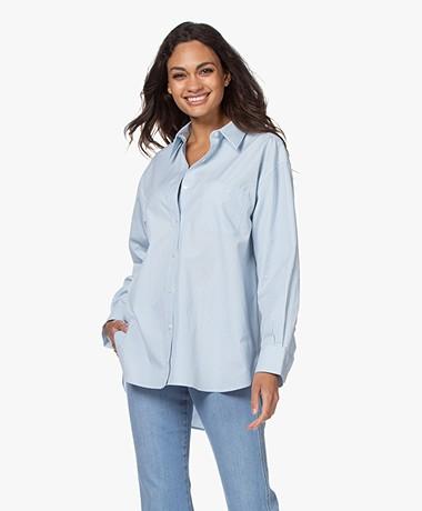 Filippa K Sammy Puur Katoenen Overhemd - Pale Blue