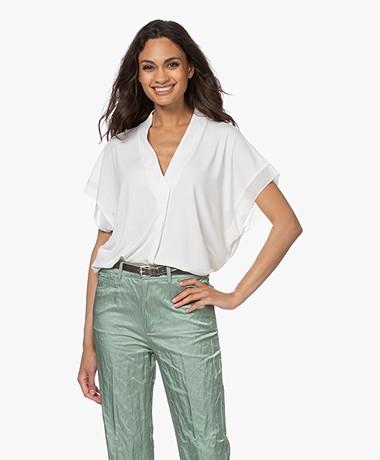By Malene Birger Oliverza Crêpe Jersey T-shirt - Soft White