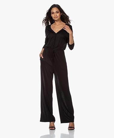 by-bar Kiki Lyocell Jersey Jumpsuit - Black
