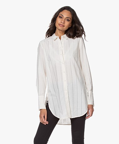 By Malene Birger Cologne Striped Blouse - Cream Snow