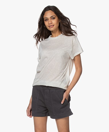 IRO Tinari Extra-fine Cotton T-shirt - Off-white Melange