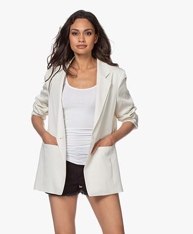 Drykorn Glendale Linnenmix Blazer - Off-white