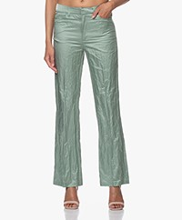 Zadig & Voltaire Pistol Crush Satin Pants - Amande