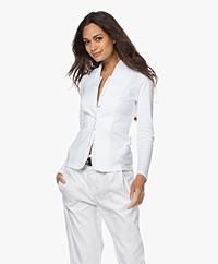 Belluna Altieri Layered Blazer Cardigan - White
