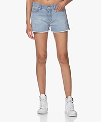 Zadig & Voltaire Storm Denim Shorts with Coating - Blue
