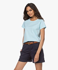 no man's land Basic Cotton T-shirt - Ocean Air