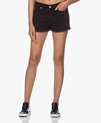 Zadig & Voltaire Storm Distressed Denim Shorts - Black