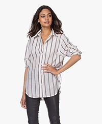 Vanessa Bruno Helianne Jacquard Striped Blouse - Ecru