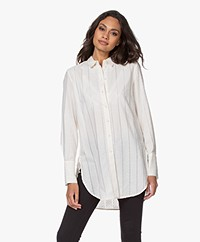 By Malene Birger Cologne Gestreepte Blouse  - Cream Snow