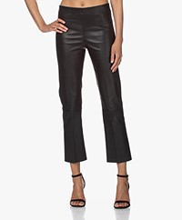 By Malene Birger Florentina Leather Pants - Black