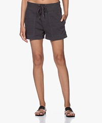 James Perse Military Slub-cotton Shorts - Black
