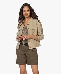 Kyra & Ko Aster Blazer Jacket in Tencel and Linen - Khaki