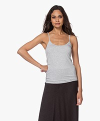 Majestic Filatures Basic Spaghetti Strap Top - Grey
