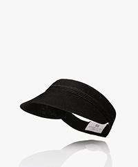 Resort Finest Paper Straw Sun Visor - Black
