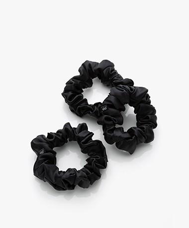 slip™ 3-pack Large Zijden Scrunchies - Zwart