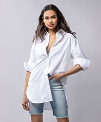 Filippa K Mandy Cotton Blend Blouse - White Chalk