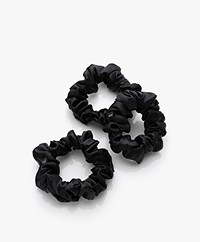 slip™ 3-pack Large Silk Scrunchies - Black