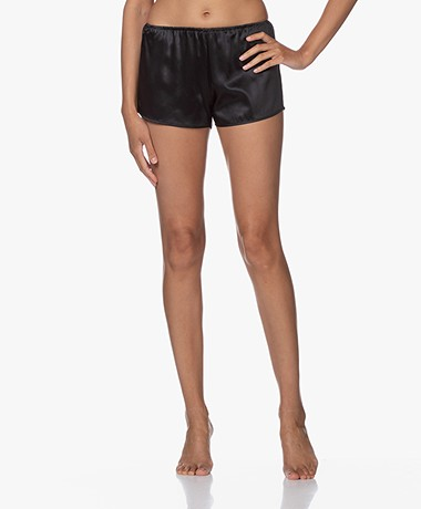 By Dariia Day Mulberry Silk Shorts - Midnight Black