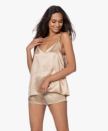 By Dariia Day Mulberry Silk Camisole - French Beige