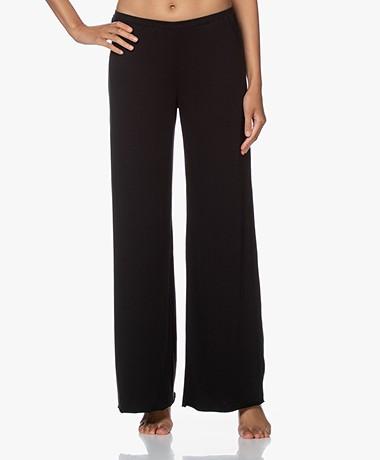 Skin Double-layered Jersey Wide Leg Pants – Black