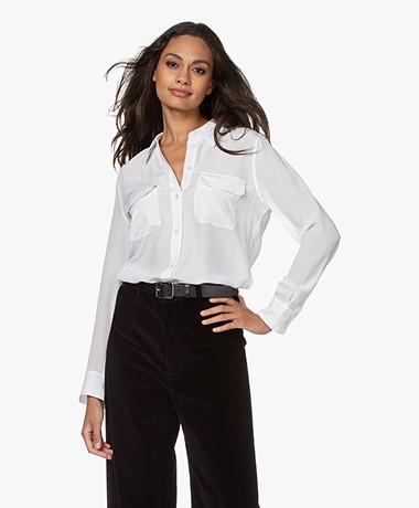 Equipment Slim Signature Washed-silk Shirt - Bright White