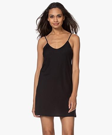 Skin Pima Katoenen Jersey Onderjurk - Zwart