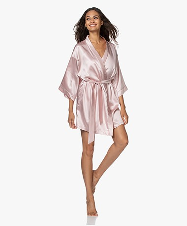 By Dariia Day Mulberry Silk Robe - Blush Pink