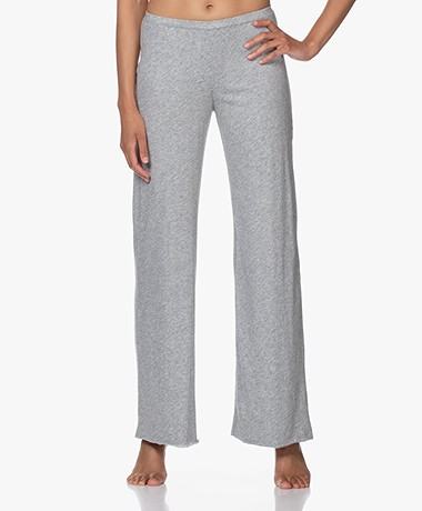 Skin Double-layered Jersey Wide Leg Pants - Heather Grey