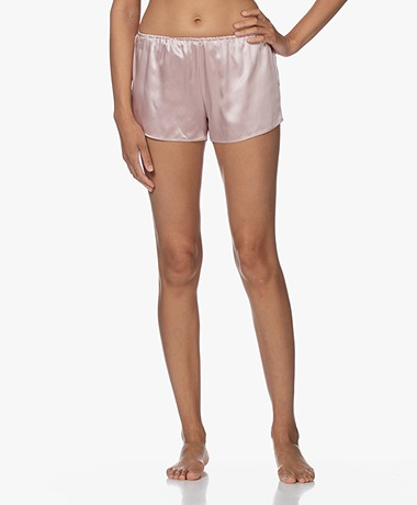By Dariia Day Mulberry Silk Shorts - Blush Pink