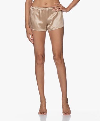 By Dariia Day Mulberry Silk Shorts - French Beige