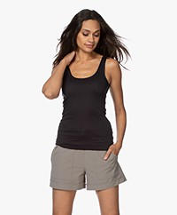 HANRO Cotton Seamless Tank Top - Black