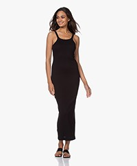 Skin Zenia Pima Cotton Rib Maxi Dress - Black