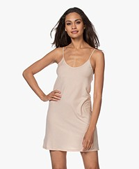 Skin Pima Cotton Jersey Slip Dress - Nude