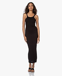 Skin Zenia Double-layered Rib Maxi Dress - Black