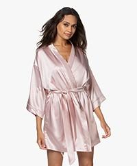 By Dariia Day Mulberry Zijden Kimono - Blush Roze
