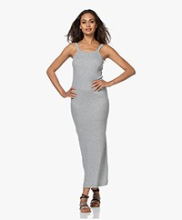 Skin Zenia Double-layered Rib Maxi Dress - Heather Grey