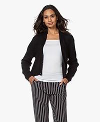 Sibin/Linnebjerg Celine Mohairmix Vest met Knoop - Zwart