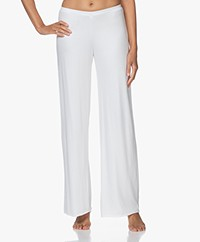 Skin Double-layered Jersey Wide Leg Pants - White