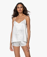 By Dariia Day Mulberry Zijden Camisole - Powder White