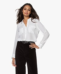 Equipment Slim Signature Gewassen Zijden Blouse - Bright White