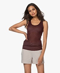 American Vintage Massachusetts Tank Top - Burgundy