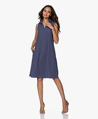 JapanTKY Lyame Sleeveless Travel Jersey Dress - Denim