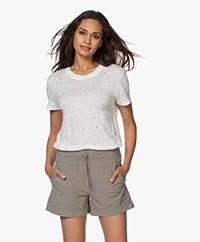 IRO Clay Distressed Linnen T-shirt - Ecru