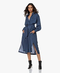 Closed Lina Oversized Lyocell Blousejurk - Archive Blue
