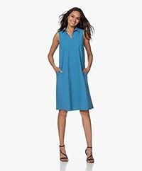 JapanTKY Lyame Sleeveless Travel Jersey Dress - Sky Blue